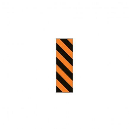 Лента идентификационная черно-оранжевая диагональная полоска